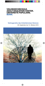 Flyer - Vortragsreihe Demenz - Sept. - Okt. 2019